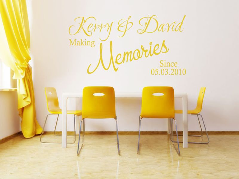 PERSONALISED Wall Art Quote - Making Memories Since Wall Sticker ...